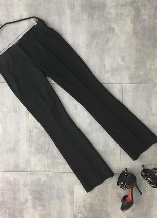 Черные брюки клеш тренд prada