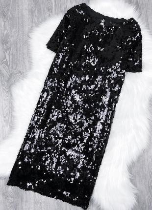 Розкішна сукня в пайєтки вільного крою zara