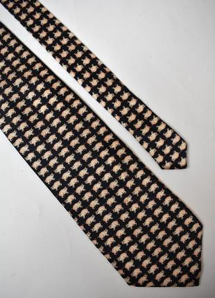 Vip галстук свинки на новый год – символ 2019 – оригинал robin ruth, шелк. новый