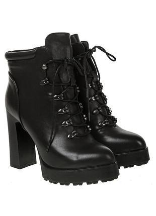 1030б женские ботильоны summergirl,на каблуке,на толстой подошве,на толстом каблуке