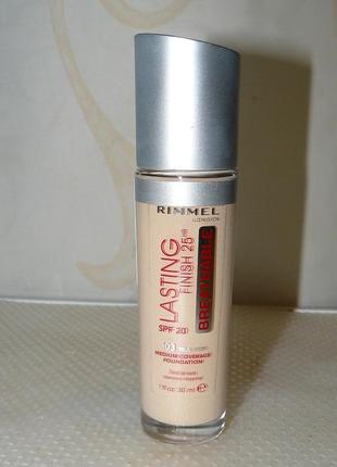Срочно! rimmel lasting finish 25h breathable foundation spf20  тональный крем для лица
