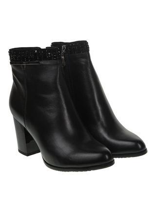 1024б женские ботильоны velly,кожаные,на каблуке,на тонкой подошве,на толстом каблуке