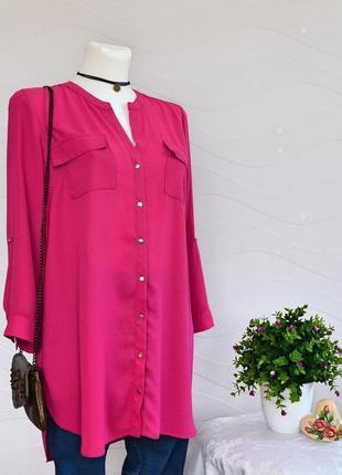 Колоритная удлиненная блузка туника f&f