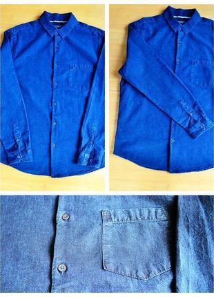 Джинсовая мужская рубашка с длинным рукавом от cedarwood state