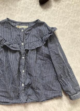 Zara блуза- рубашка на девочку 5 лет .рост 110