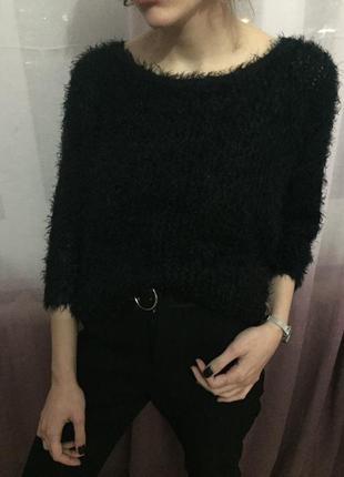 Тёплая актуальная кофта свитер травка