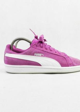 Кроссовки розовые puma женские (замш)