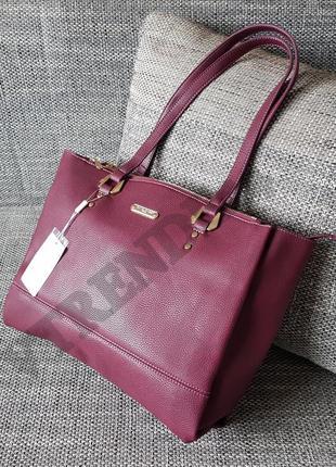 Бесплатная доставка #3929 bordo david jones женская стильная сумка шоппер