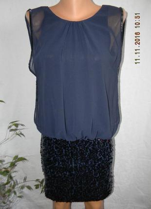 Новое нарядное платье с пайетками coast