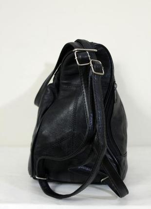 Кожаная сумка - рюкзак.