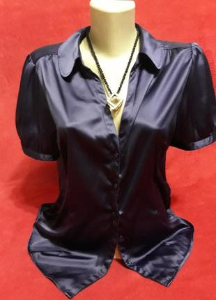 Нарядная фирменная атласная блузка  от  h&m