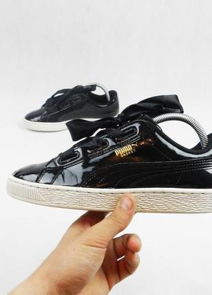 Кроссовки puma basket женские чёрные