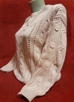 Идеальный пудровый свитер/джемпер с шерстью альпаки от известного бренда