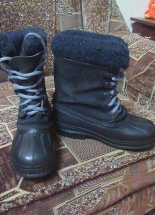 Зимние резиновые ботинки,сапоги,сноубутсы.оригинал sorel-made in canada-35р.2