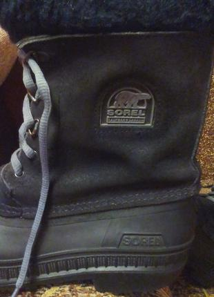Зимние резиновые ботинки,сапоги,сноубутсы.оригинал sorel-made in canada-35р.3