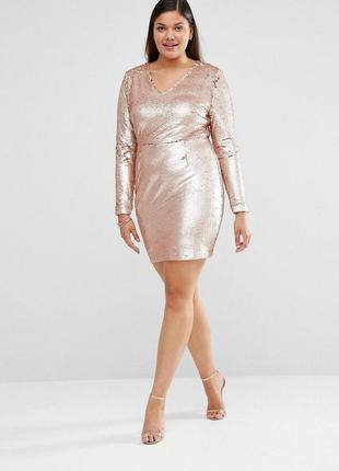 Изысканное нарядное платье в пайетки
