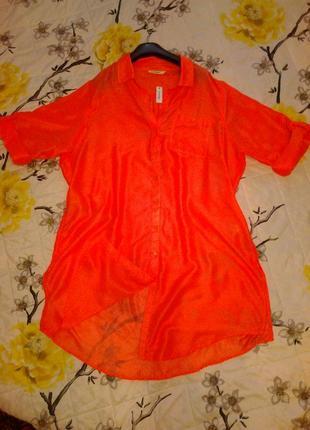 Яркая лёгкая рубашка.размер 56-58