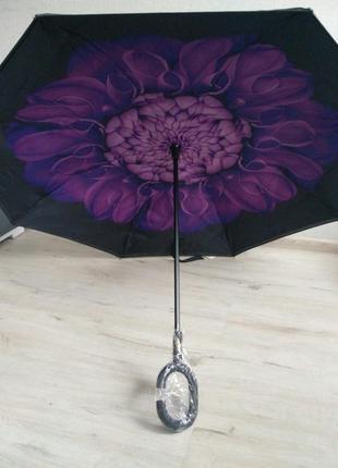 Смарт зонт smart exclusive . качественный и ультрамодный зонт обратного сложения