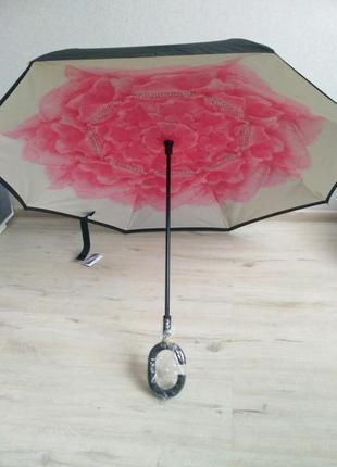 Зонт smart exclusive. качественный и ультрамодный зонт обратного сложения