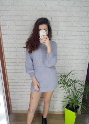 Пушистое платье туничка