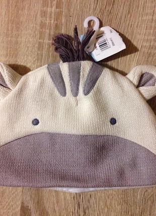 Забавная шапочка john lewis на малыша 3 месяца хлопок