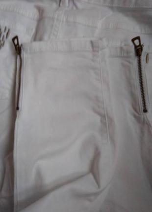 Стильные белые  штаны скинни charles vogele, 38 размер.