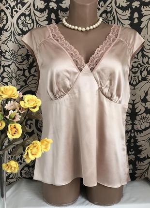 Шелковая 🌺🌺🌺 блузка из шёлка madeleine, l, 48-50.