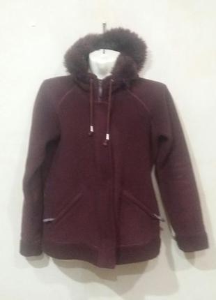 Теплющая флисовая кофта-куртка