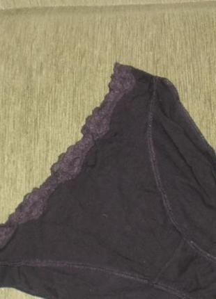 Черные хлопковые трусики слипы marks & spencer/англ 16