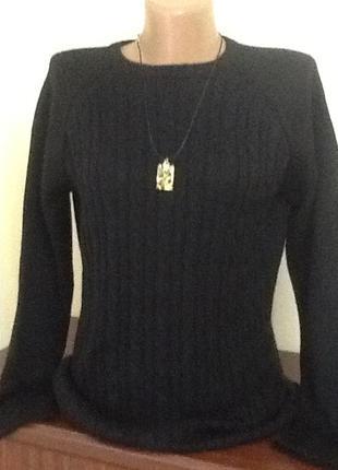 Итальянский коллекционный  полушерстяной свитер  в косы от bernardi