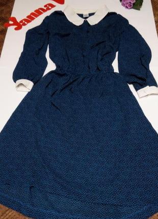 Платье миди 54 56 большой размер  синее принт  топ sale