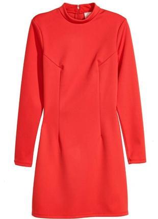 Красное облегающее платье h&m s