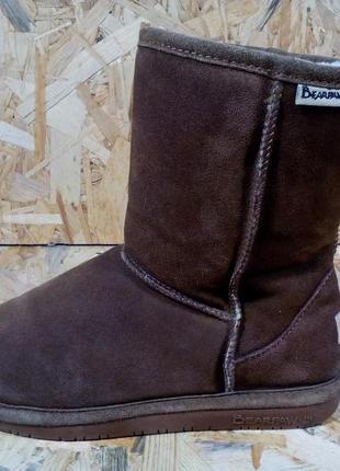 Зимние кожаные ботинки bearpaw
