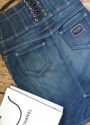 Юбка джинсовая до jean paul gaultier