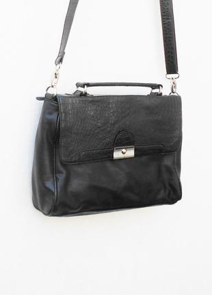 Черный женский портфель через плечо envy by nv bags