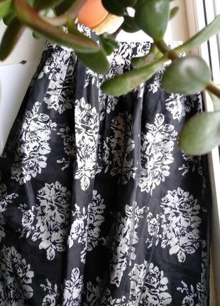 Очень красивая праздничная юбка миди хлопок с фатином новая