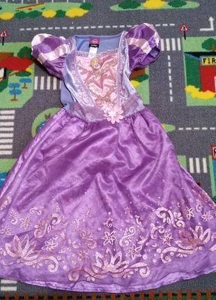 Карнавальное новогоднее платье рапунцель3-4 г. 98-104 см