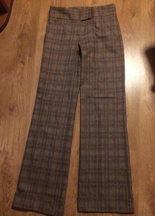 Брендовые клетчатые брюки широкие палаццо кюлоты  шерсть  36-38рcм.все лоты!