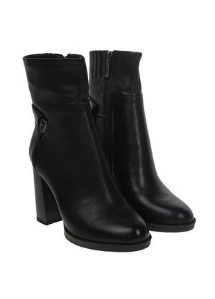 1017б женские ботильоны sufinna,кожаные,на каблуке,на тонкой подошве,на толстом каблуке
