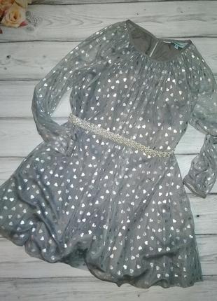 Нарядное платьице little dickins & jones для девочки 7-8 лет