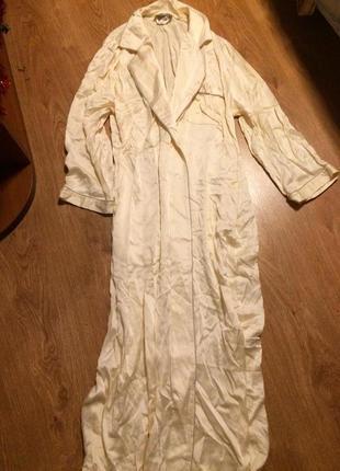 Шелковый халатик  с франции  без пояса