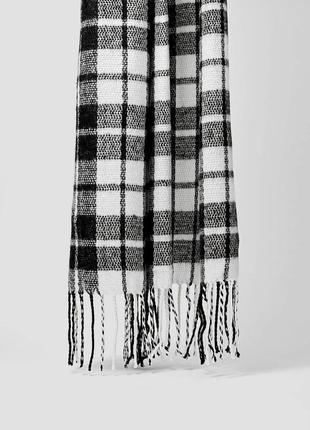 Новый фирменный длинный шарф/ шаль в клетку