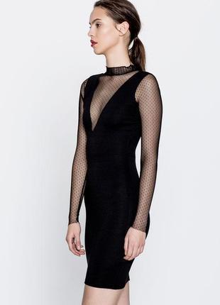 Черное платье pull&bear