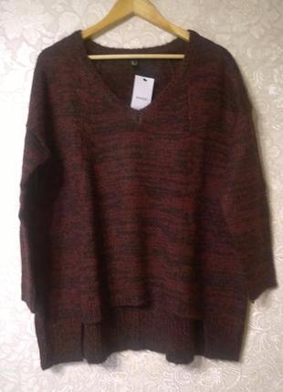 Свободный шерстяной свитер mango 81ef691fc12aa