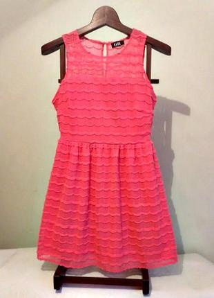 Красивейшее нежное розовое кружевное платье