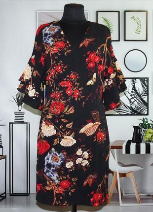 Платье нарядное в цветочный принт quiz