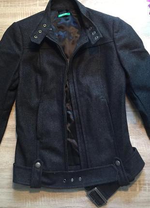 Куртка-пальто из шерсти benetton