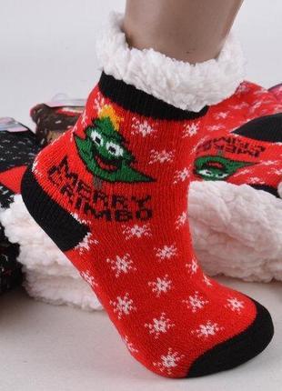 Детские новогодние носочки. детские носки