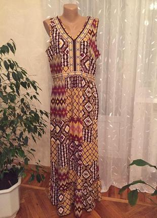 Шикарное летнее платье большого размер tu