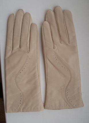 Перчатки кожа, размер l